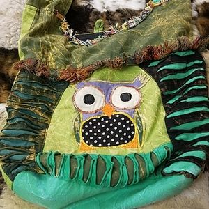 Handbags - Beautiful owl crossbody bag